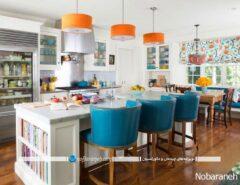 صندلی اپن آشپزخانه با طراحی کلاسیک و قدیمی