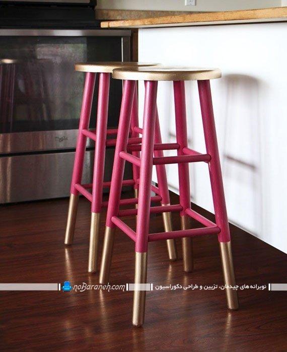 صندلی اپن چوبی با رنگ بندی شاد