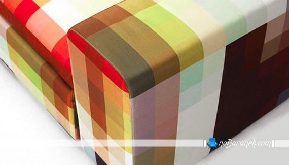 پارچه رومبلی با تنوع رنگی بالا