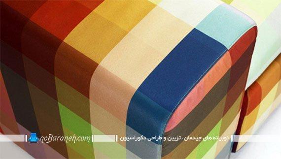 پارچه رومبلی رنگارنگ و پیکسلی