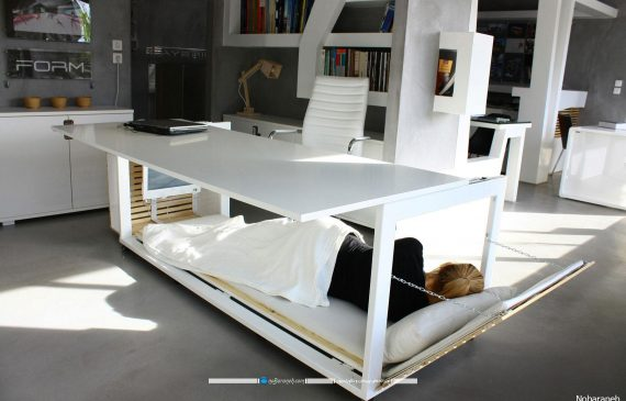 میز اداری تختخواب شو برای محیط شرکتی و اداری