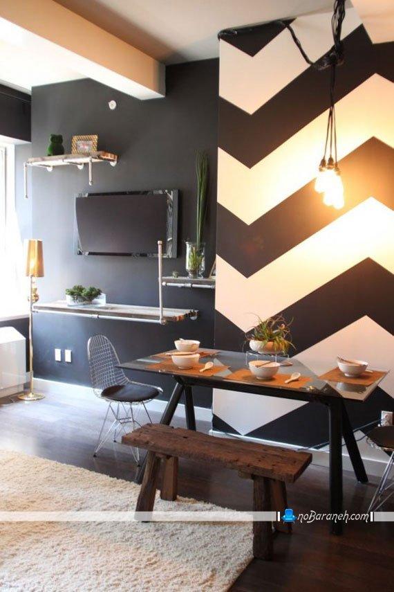 دیزاین مدرن اطراف میز ناهارخوری