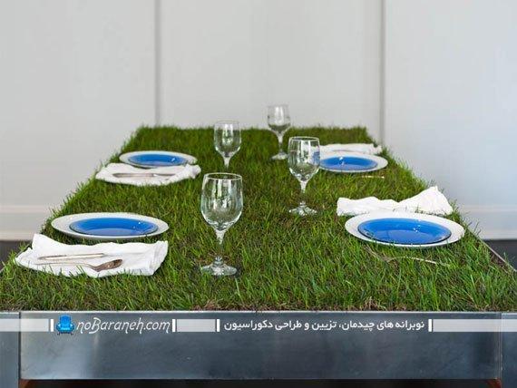 میز نهارخوری فانتزی با طراحی جالب و دیدنی