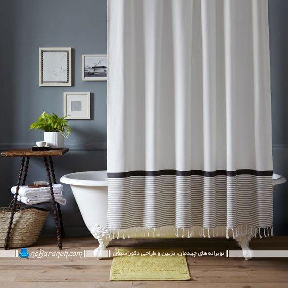 پوشش فضای استحمام با پرده