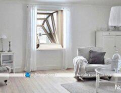 پنجره چوبی آکاردیونی، بازشو به سمت بیرون