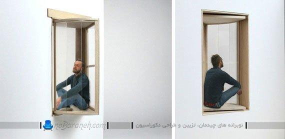 پنجره چوبی کشویی برای خانه های آپارتمانی