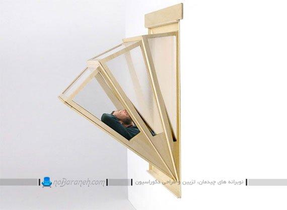 پنجره چوبی با طراحی آکاردئونی