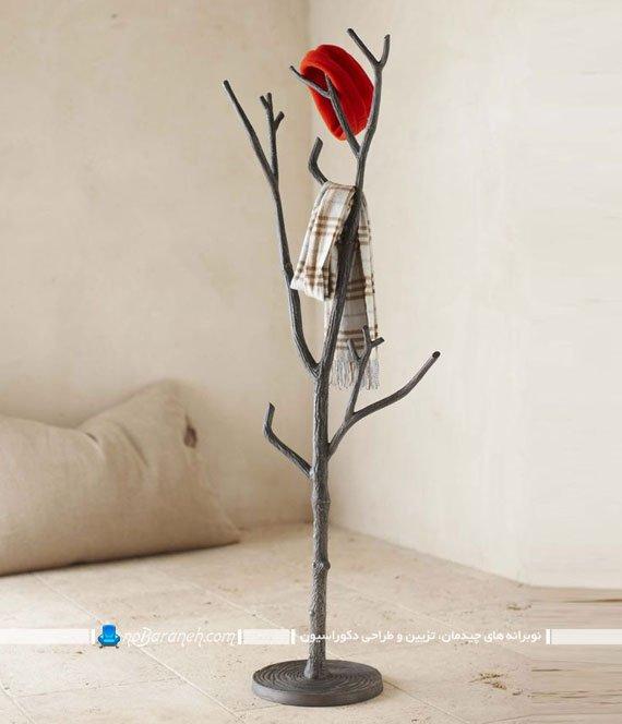 چوب لباسی های فانتزی فلزی شبیه سازی شده به شکل شاخه درخت