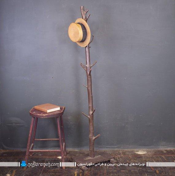 چوب لباسی ایستاده با طرح شاخه درخت