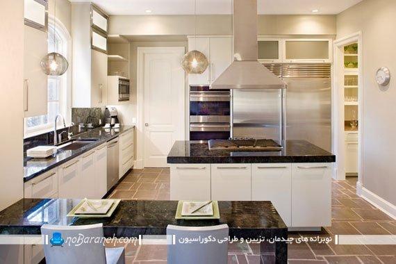 نمونه مدل استفاده از سنگ گرانیتی در آشپزخانه