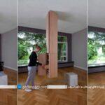 ستون و کمد چوبی برای فضاسازی در خانه با طرح جدید