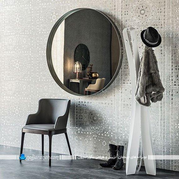 آینه دکوراتیو طرح کلاسیک. نصب آینه دیواری شیک مدرن. آینه دیواری فانتزی برای دکوراسیون اتاق پذیرایی. مدل های جدید آئینه دیواری