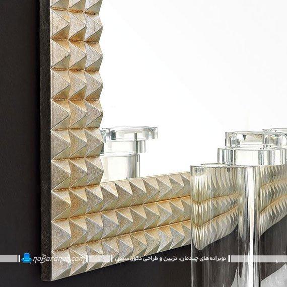 آینه دیواری با قاب فانتزی و شیک مدرن. عکس مدل های جدید آینه دکوراتیو شیک مدرن