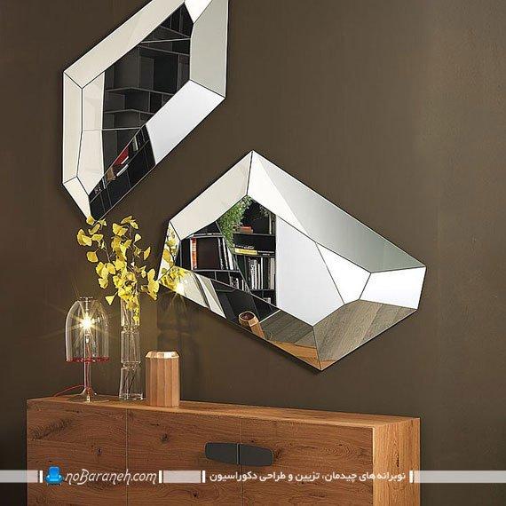 نصب آینه در پذیراییآینه دیواری مدرن فریم لس. زیباترین آینه های دکوراتیو آینه دیواری فانتزی