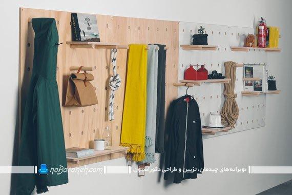 شلف و طبقه دیواری چوبی