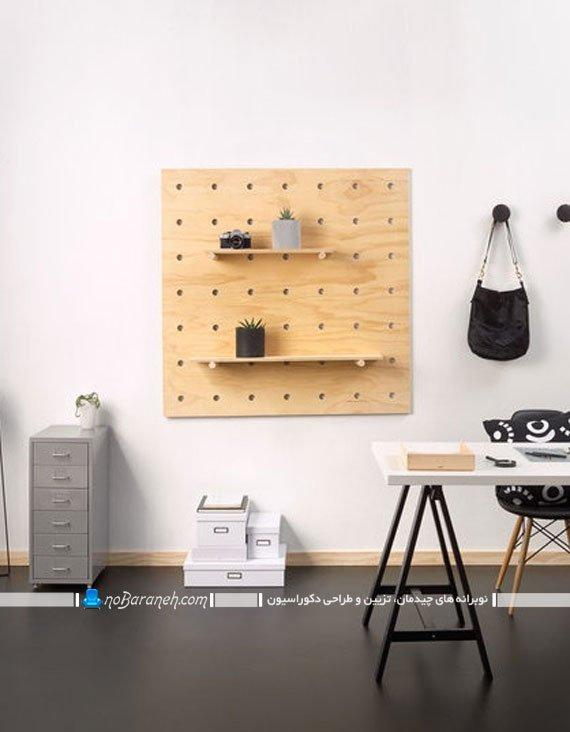 شلف و قفسه دیواری چوبی