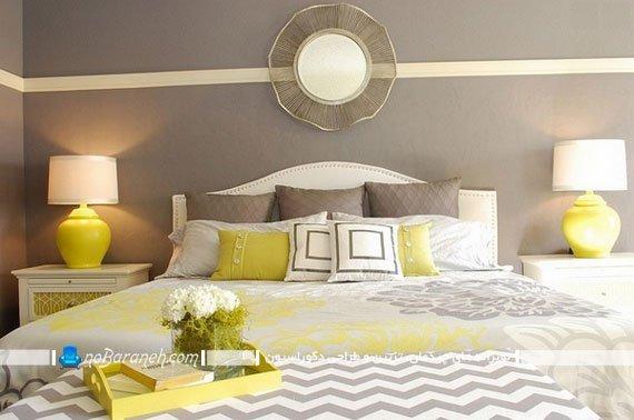 رنگ آمیزی اتاق عروس با زرد و خاکستری