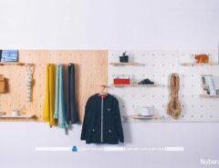 قفسه دیواری چوبی و تزیینی