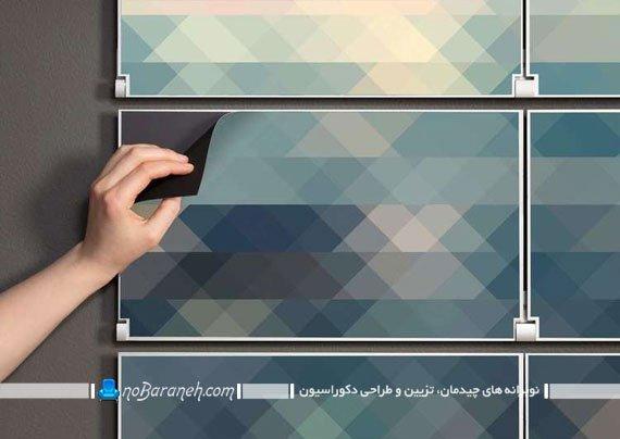 طرح جدید شلف و طاقچه مدرن دیواری. مدل شلف و طبقه های تاشو دیواری