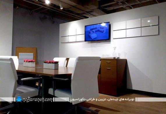 شلف دیواری با طراحی جدید و مدرن. قفسه و طبقه دیواری تاشو مدل جدید شیک مدرن فانتزی