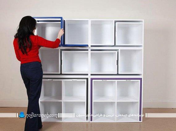 قفسه کتاب و کتابخانه کمجا