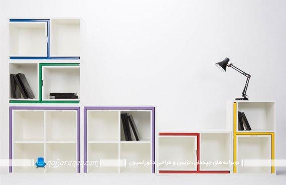 کتابخانه کمجا و قفسه کتاب