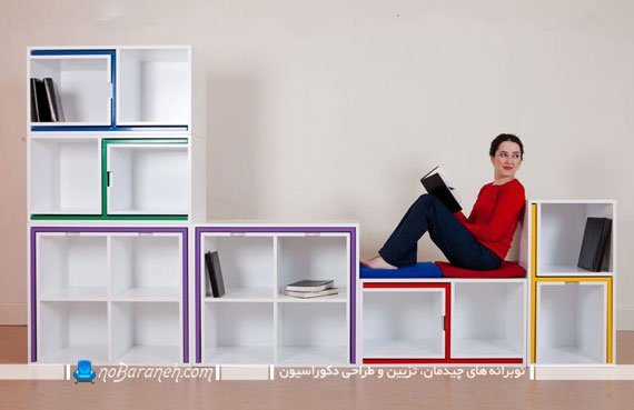 طرح و مدل جدید کتابخانه خانگی