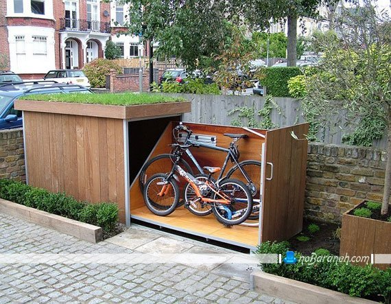 پارکینگ چوبی دوچرخه