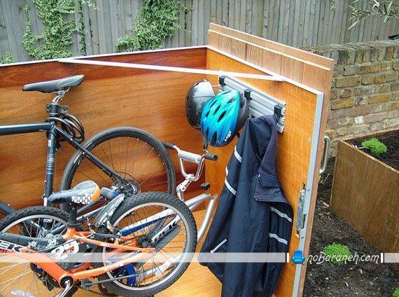 طراحی پارکینگ دوچرخه در حیاط خانه