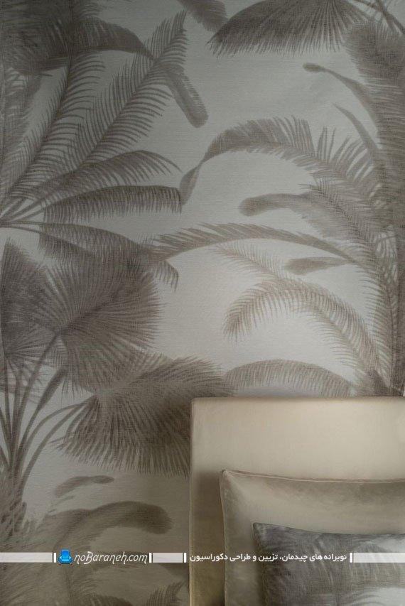 کاغذ دیواری نقش برجسته اتاق خواب