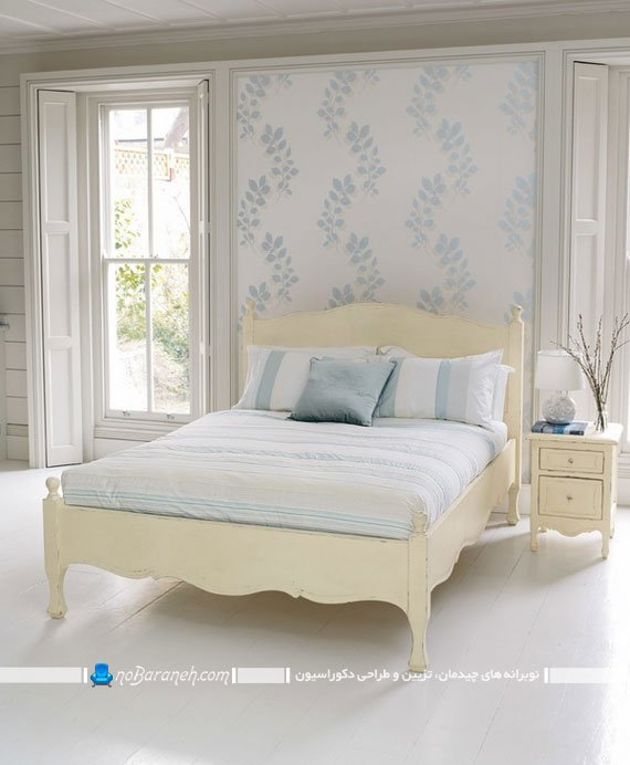 کاغذ دیواری طرح دار اتاق خواب