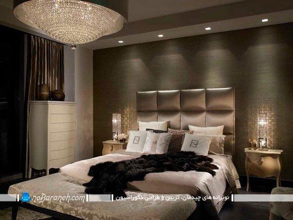 کاغذ دیواری طرح برجسته اتاق خواب