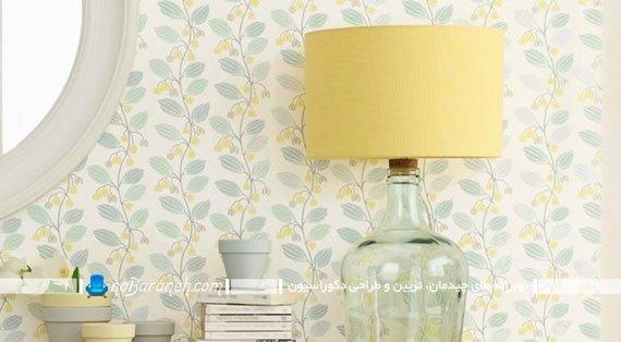 کاغذ دیواری اتاق خواب با طرح گلها