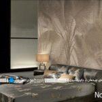کاغذ دیواری برجسته و مدرن اتاق خواب از برند آرمانی