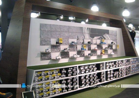 شلف و طاقچه تاشو مدرن دیواری. شلف دیواری فروشگاهی و تجاری با طراحی جدید شیک مدرن
