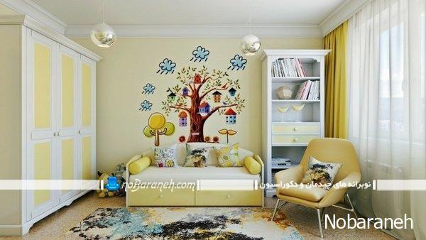 تزیین دیوارهای اتاق بچه یا برچسب دیواری طرح درخت
