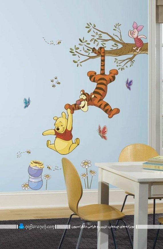 استیکر اتاق بچه با طرح حیوانات کارتونی