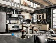 تزیین دیوارهای داخلی آشپزخانه به شکل تخته سیاه
