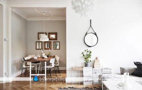 تبدیل بخش کوچک و دنجی از خانه به اتاق ناهارخوری