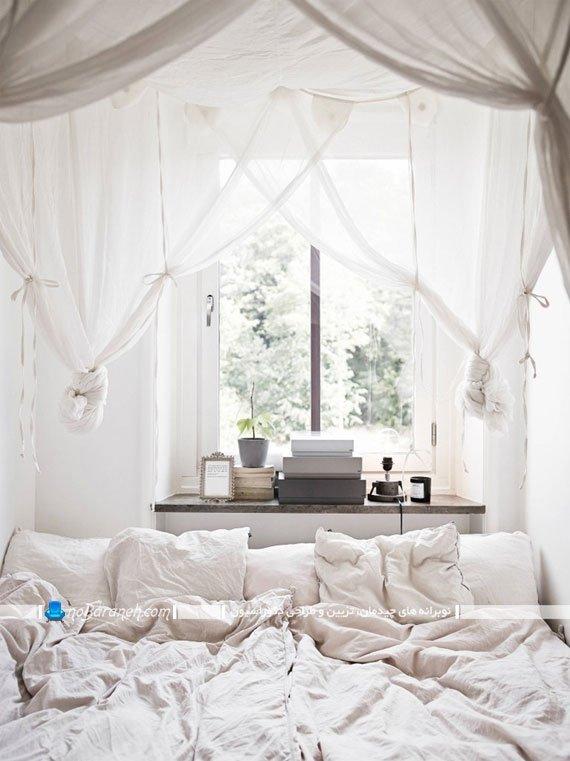 دکوراسیون اتاق خواب با رنگ سفید خالص