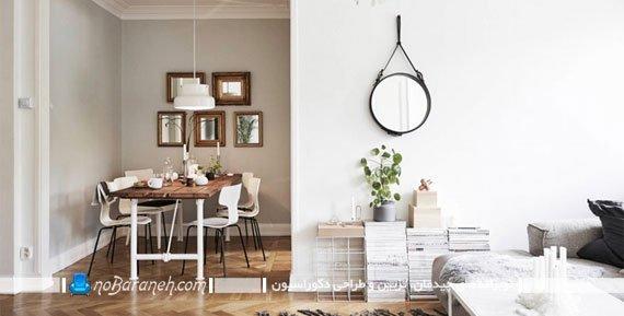 دیزاین و تزیین خانه با طرح چوب و رنگ سفید