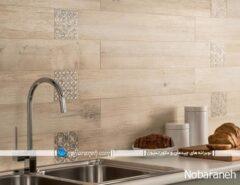 دیوارپوش چوبی و مدرن آشپزخانه با طرح شیک و جدید