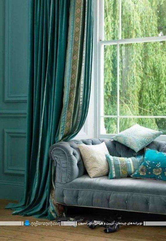 دیزاین داخلی با رنگ فیروزه ای. دکوراسیون منزل با سبز فیروزه ای در مدل های شیک کلاسیک فانتزی
