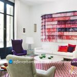 تزیین دکوراسیون داخلی با ترکیب رنگهای شاد و سفید