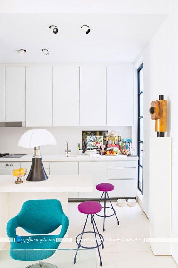 دکوراسیون آشپزخانه با رنگ های شاد و روشن