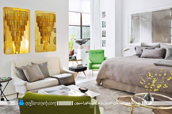 دکوراسیون اتاق خواب با رنگ آمیزی شاد و روشن