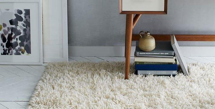 فرش ماشینی تافتینگ و پرز دار با رنگ روشن
