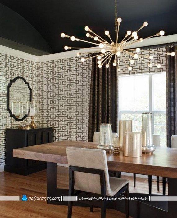 مدل های جدید لوستر سقفی برای اتاق ناهارخوری