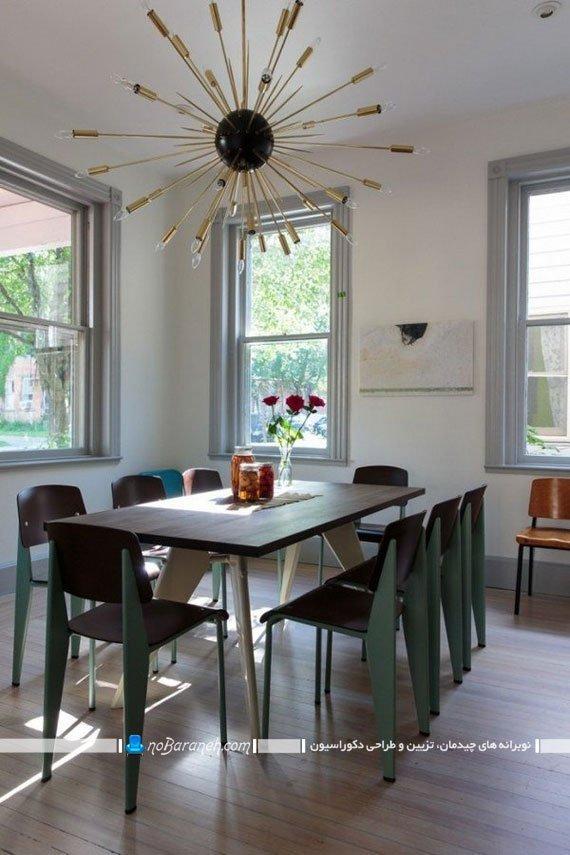 طرح جدید و ظریف لوستر سقفی میز ناهارخوری