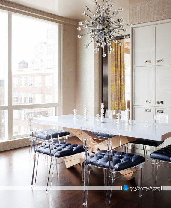 نورپردازی شیک و ساده اتاق ناهارخوری